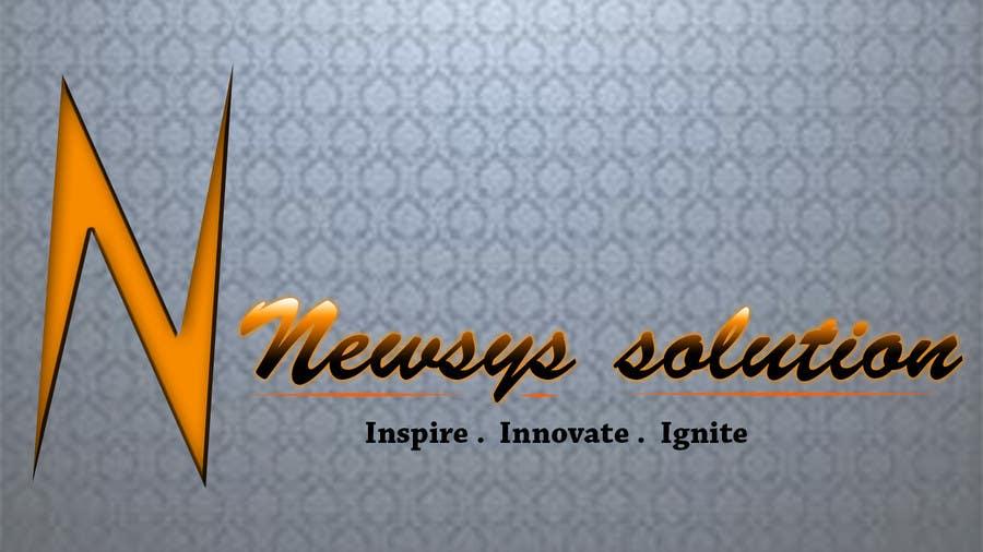 Penyertaan Peraduan #                                        40                                      untuk                                         Design a Logo for Newsys Solution