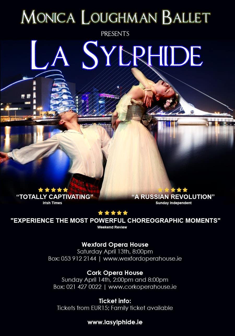 Конкурсная заявка №9 для Graphic Design for Ballet company for a ballet called La Sylphide