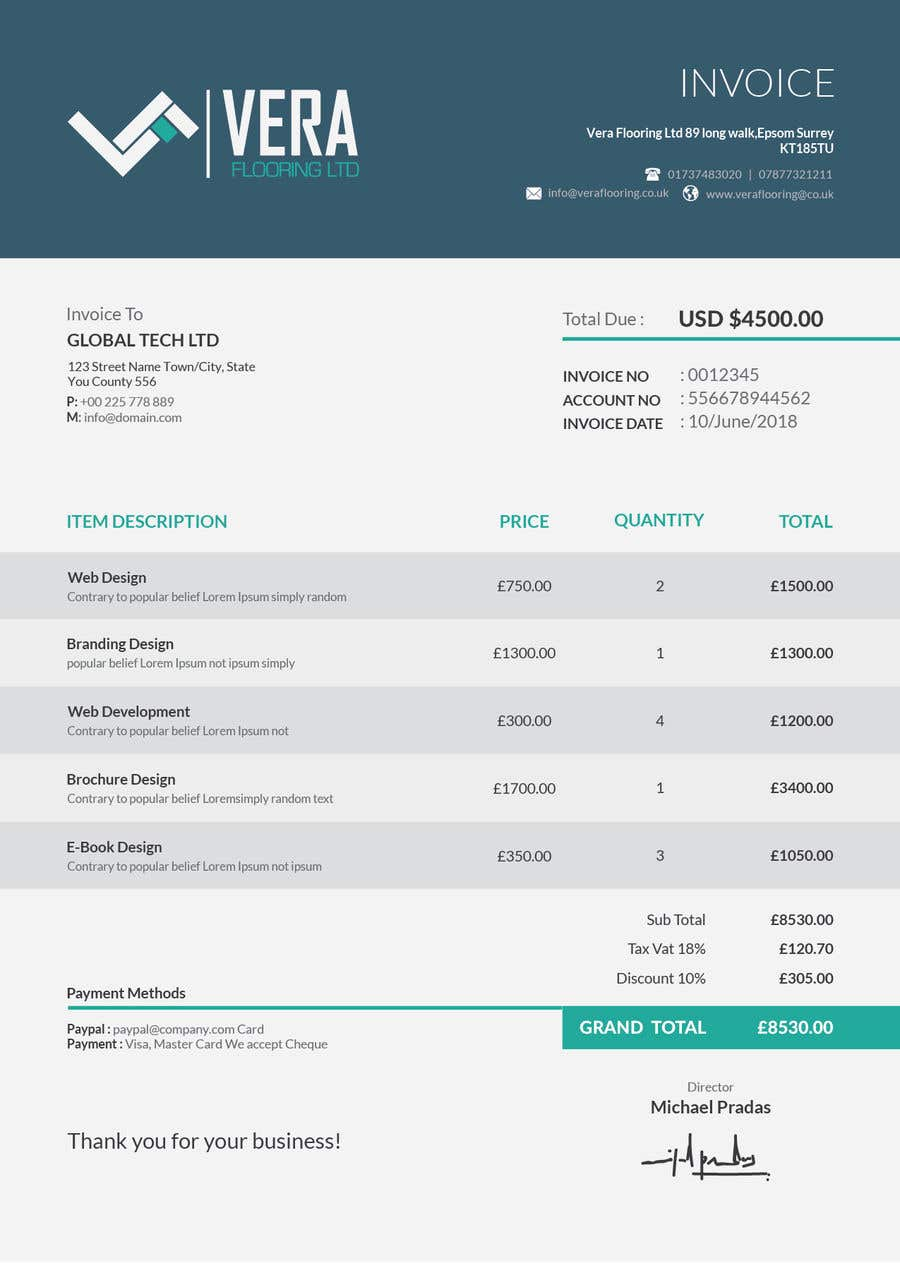 Entry By Creativesolutanz For Css Invoice Estimate Template - Css invoice template