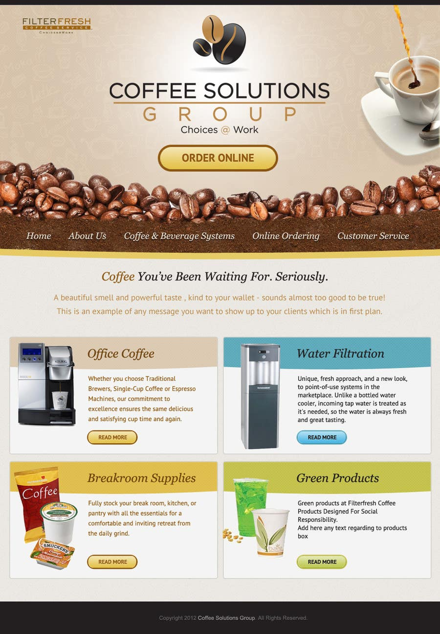 Proposition n°                                        37                                      du concours                                         Website Design for Coffee Solutions Group