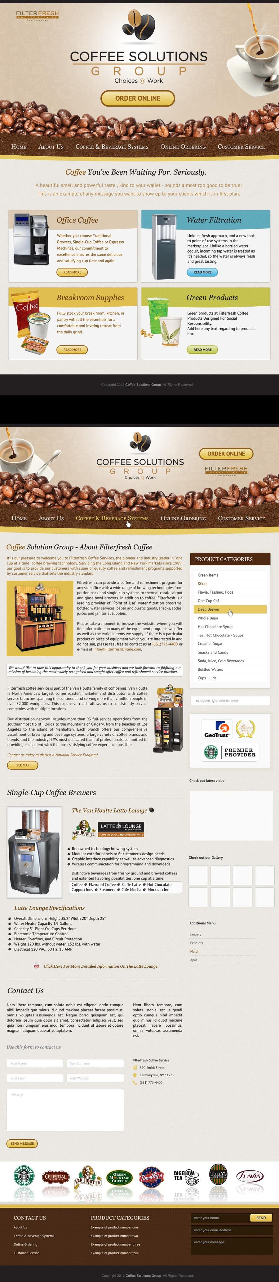 Proposition n°                                        53                                      du concours                                         Website Design for Coffee Solutions Group