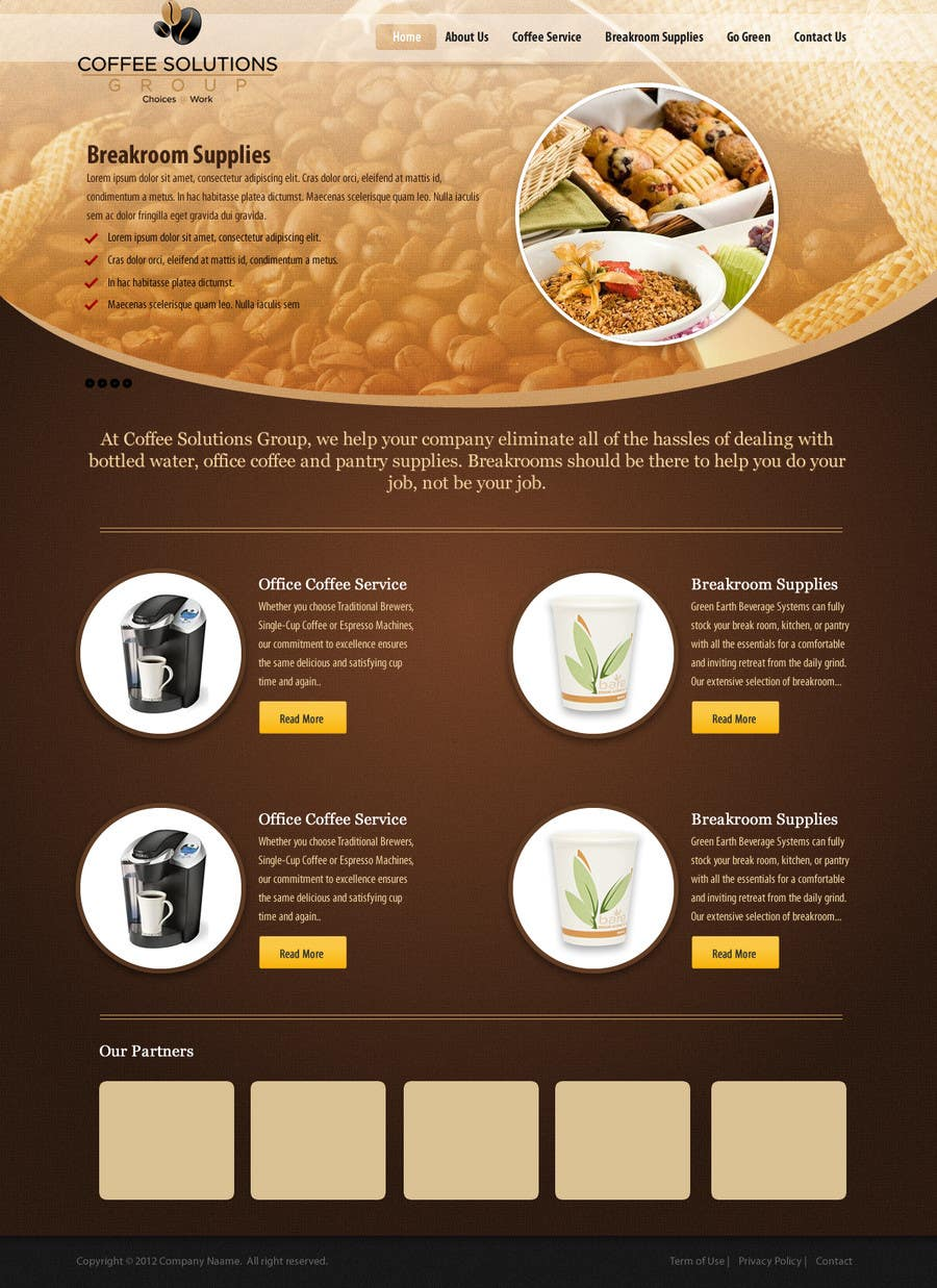 Proposition n°                                        28                                      du concours                                         Website Design for Coffee Solutions Group