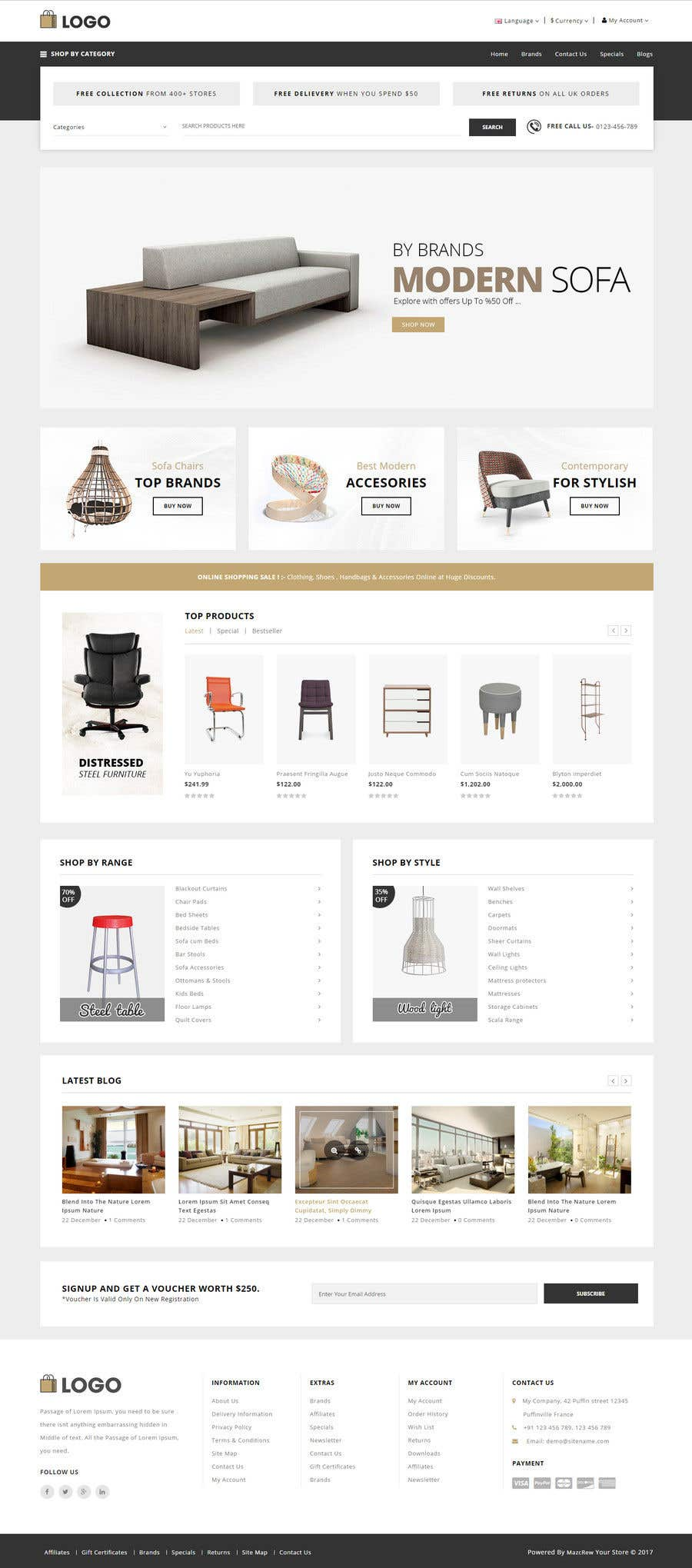 Contest Entry 9 For Design A Website Mockup An Office Furniture Supply