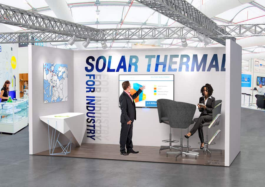 Exhibition Stand Design Furniture : Entry by gavben for solar energy exhibition stand design