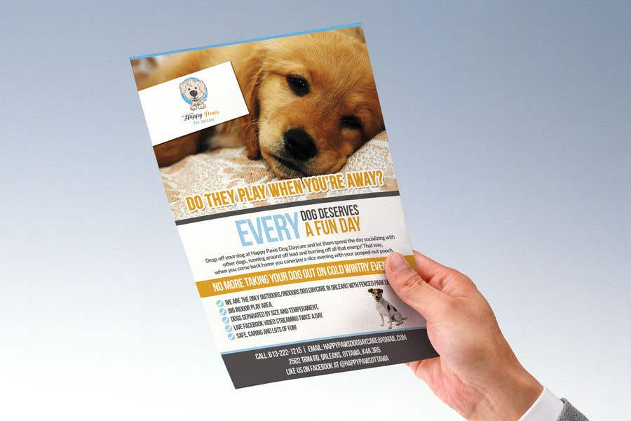 Entry #34 by mnagm001 for Happy Paws Dog Daycare flyer