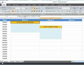 Design simple room booking system on Microsoft excel