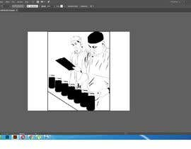 #5 for Design the lineart for a 3 panel vector comic in illustrator by ankit8888
