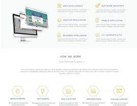 Nro 28 kilpailuun Design and build 1 page static introduction website käyttäjältä shamrat42