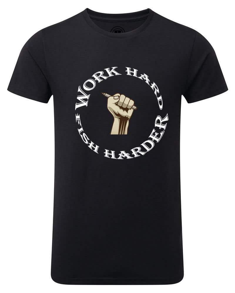 Kilpailutyö #24 kilpailussa Design a Fishing T-Shirt with a Vintage Style