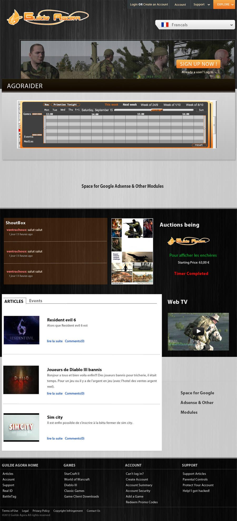 #17 for Website Design for guilde agora by PDWebDesigns