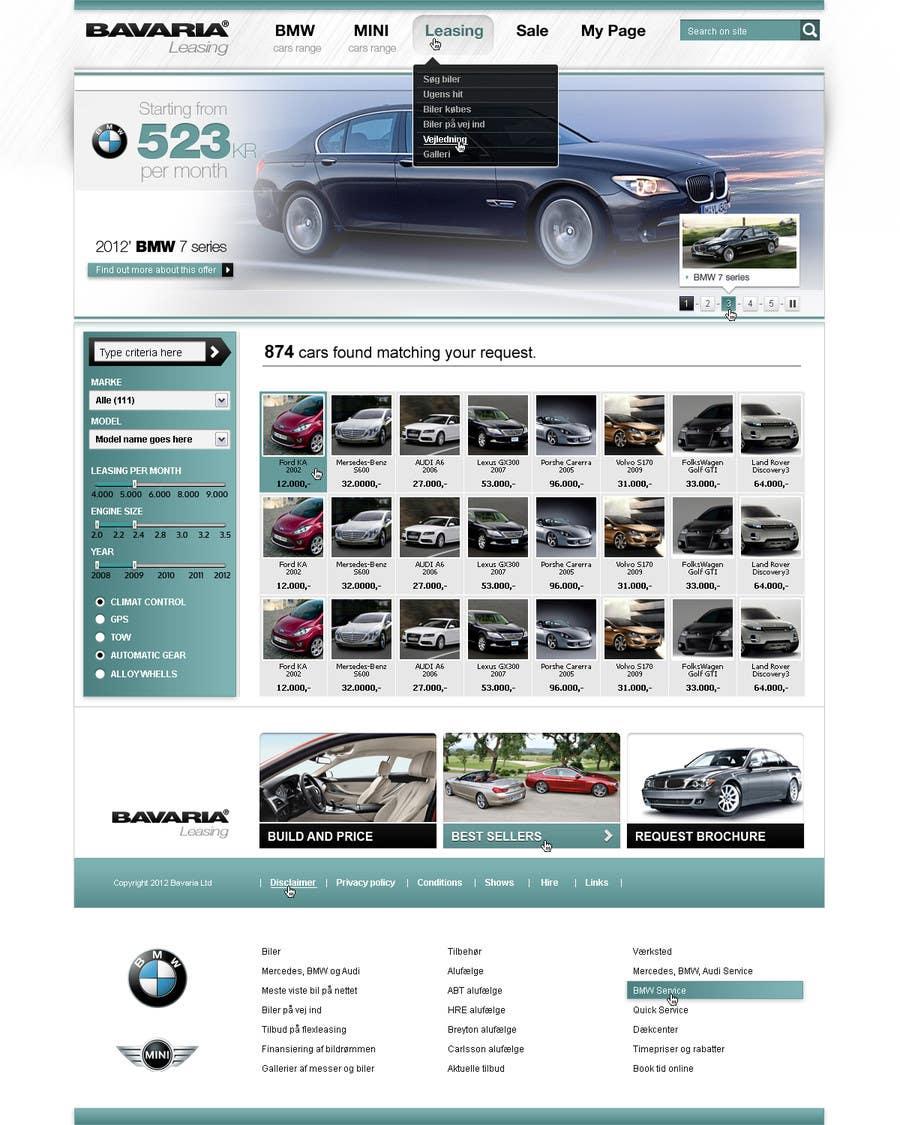 Bài tham dự cuộc thi #42 cho Website Design for Bavaria KBH (Car Leasing + Finansing website)