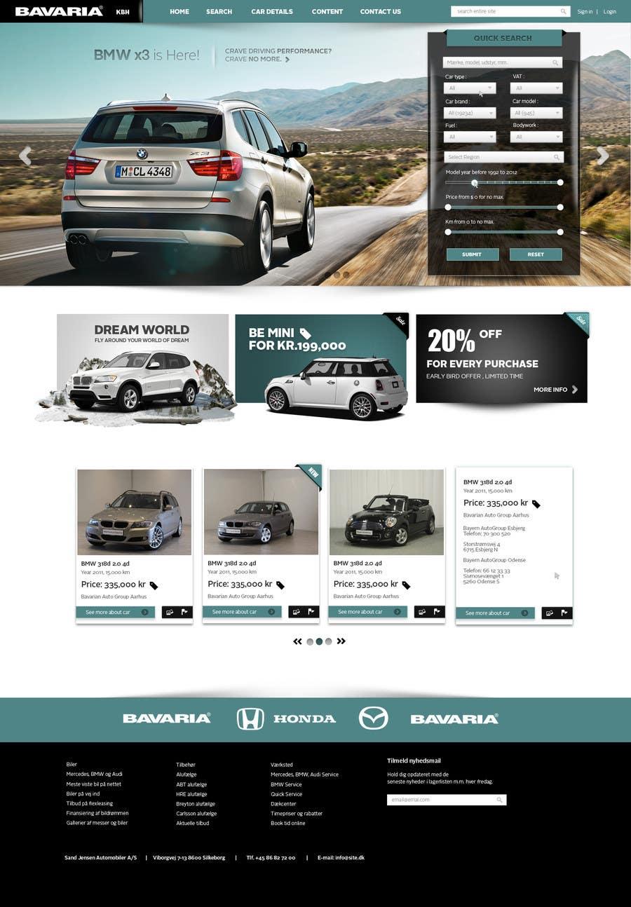Bài tham dự cuộc thi #71 cho Website Design for Bavaria KBH (Car Leasing + Finansing website)