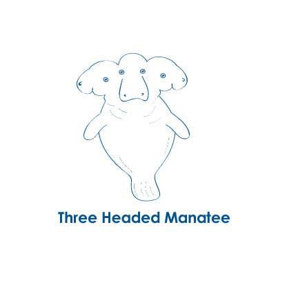 Inscrição nº                                         1                                      do Concurso para                                         Logo Design for Three-headed Manatee