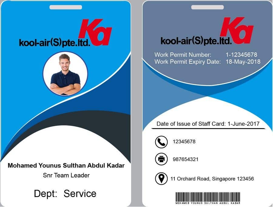 Entry #11 by mmasumbillah57 for Design for Staff ID Card