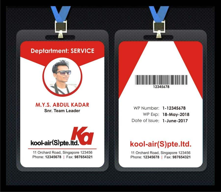 By Freelancer Card Staff Id Design 55 Entry For Kavitasavant