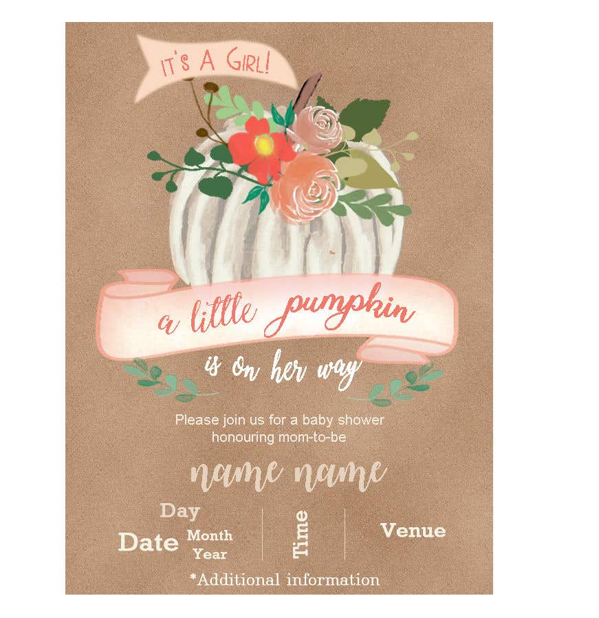 Entry 8 By Sonalfriends86 For Design Baby Shower Invitation Card