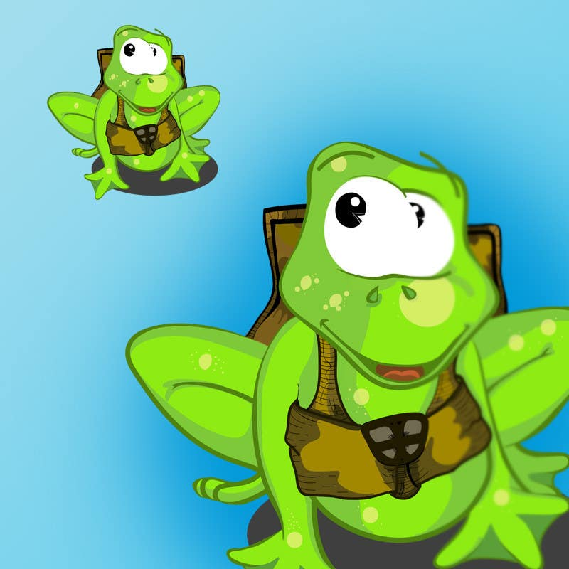 Kilpailutyö #59 kilpailussa Help us create a FROG that will be our MAIN CHARACTER for new KIDS ipod app.