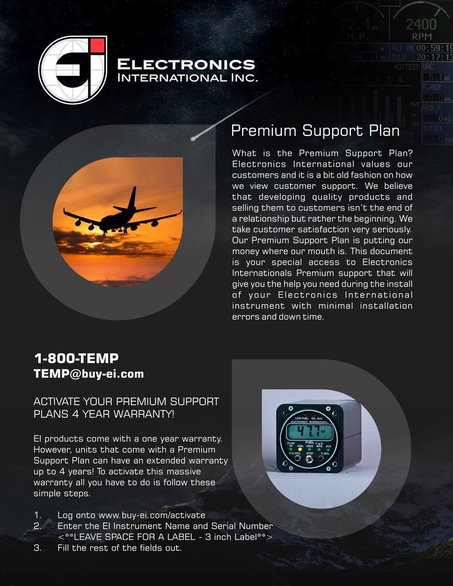 Конкурсная заявка №10 для Flyer Design for Electronics International