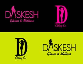 #27 untuk Logo Design for Daskesh Clothing company, specifically for gloves/mittens oleh alizap