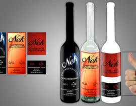 #80 untuk Graphic Design- Label for fruit liqueur. oleh eb007