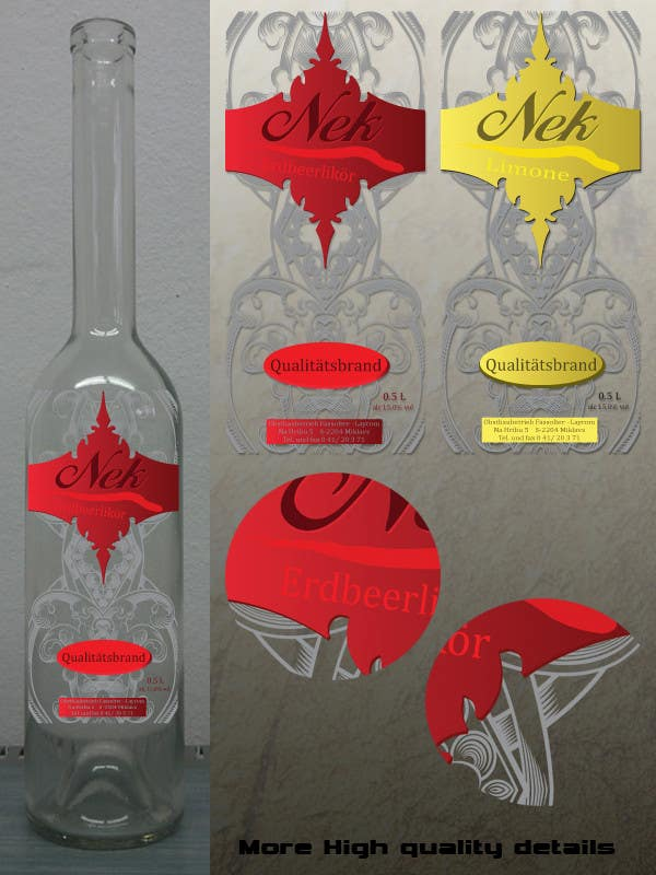 Bài tham dự cuộc thi #156 cho Graphic Design- Label for fruit liqueur.