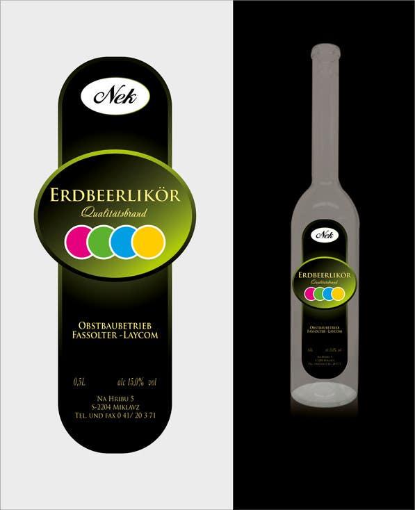 Kilpailutyö #139 kilpailussa Graphic Design- Label for fruit liqueur.