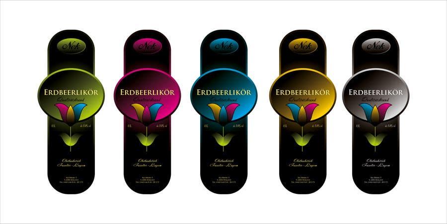Bài tham dự cuộc thi #146 cho Graphic Design- Label for fruit liqueur.