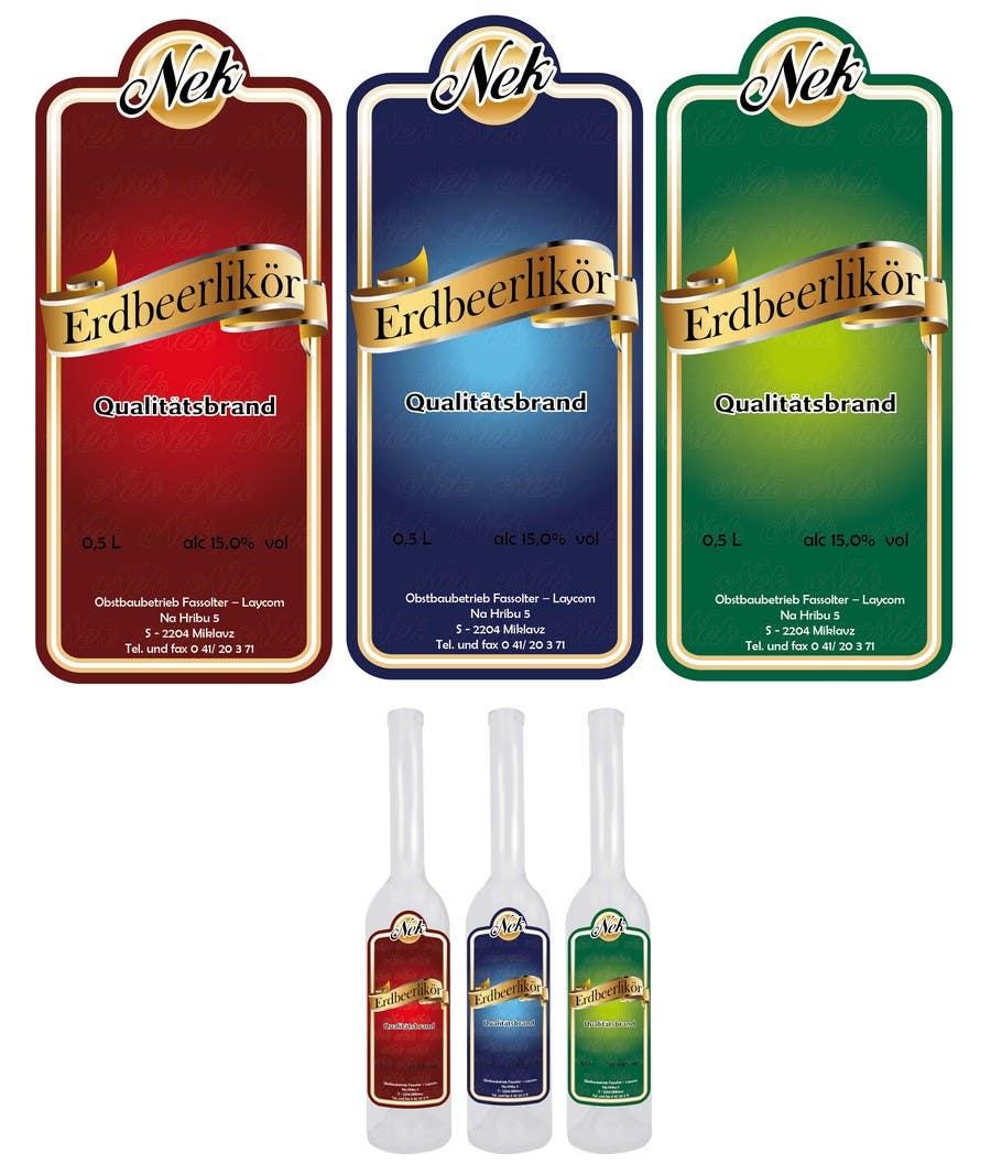 Kilpailutyö #60 kilpailussa Graphic Design- Label for fruit liqueur.