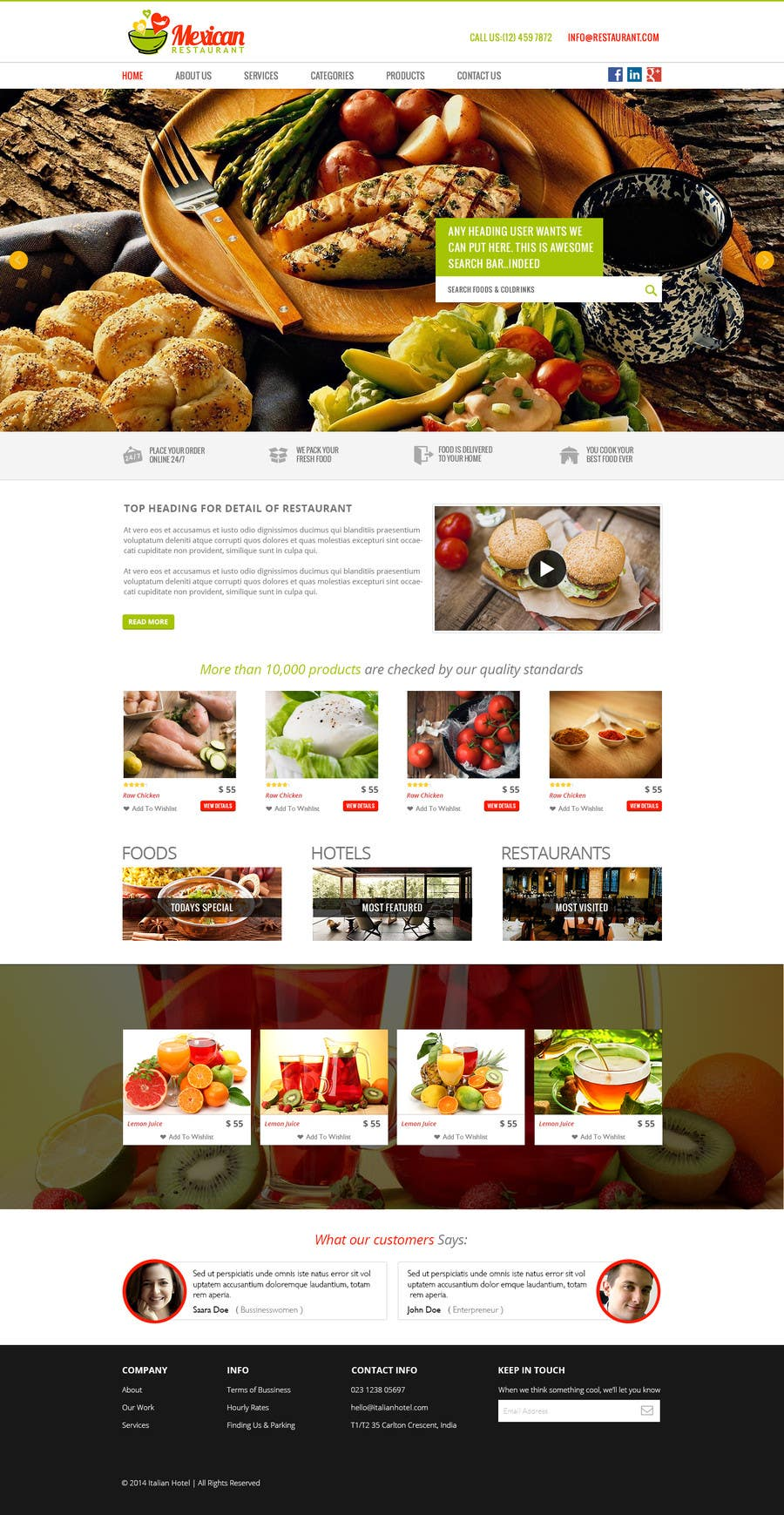 Entry 5 By Shabcreation For Food Restaurant Bootstrap Angularjs