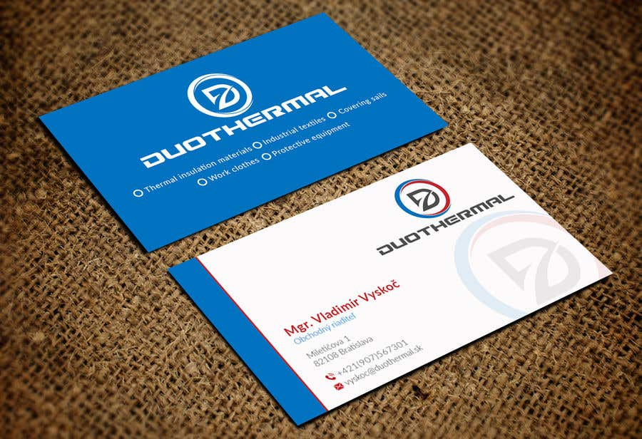 Entry #53 by rashedul070 for Business Cards for DuoThermal s.r.o. ...