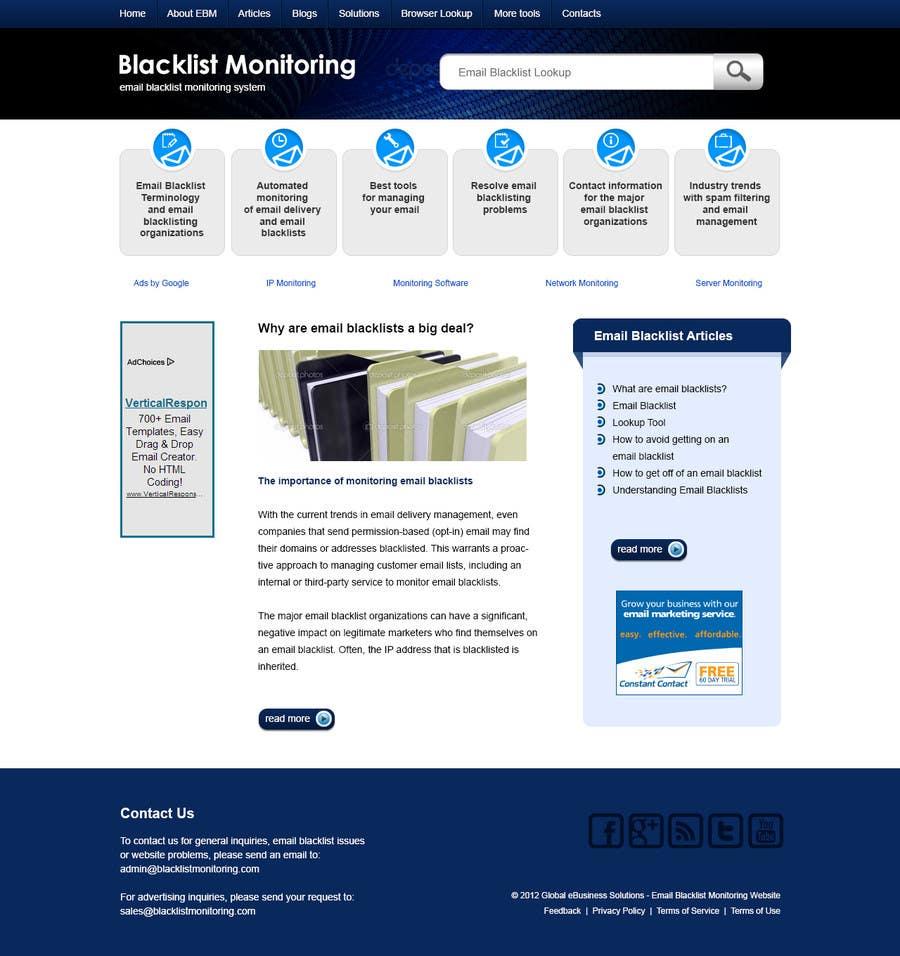 Konkurrenceindlæg #54 for Website Design for Global eBusiness Solutions, Inc. (Blacklist Monitoring Website)