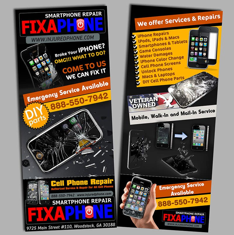 #7 for Graphic Design Flyer for Fix A Phone by creationz2011
