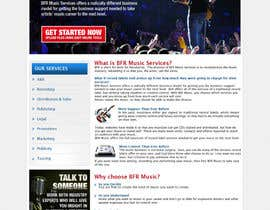 tania06 tarafından Website Design for BFR Music Services için no 5