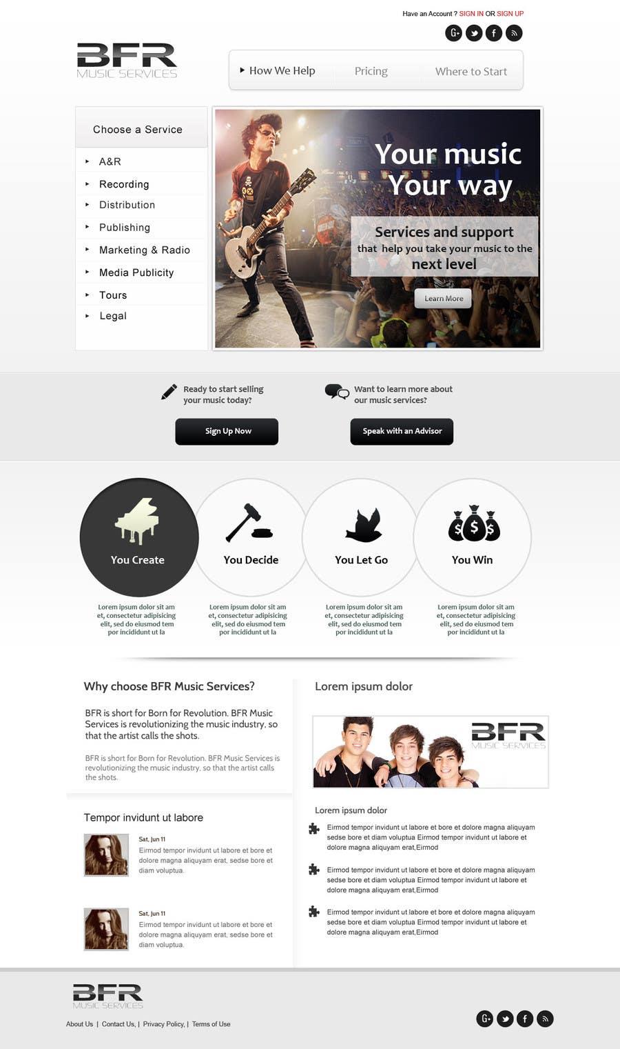 Inscrição nº                                         39                                      do Concurso para                                         Website Design for BFR Music Services