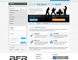#45 untuk Website Design for BFR Music Services oleh iNoesis