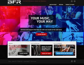 #9 untuk Website Design for BFR Music Services oleh chiragbhavsar78