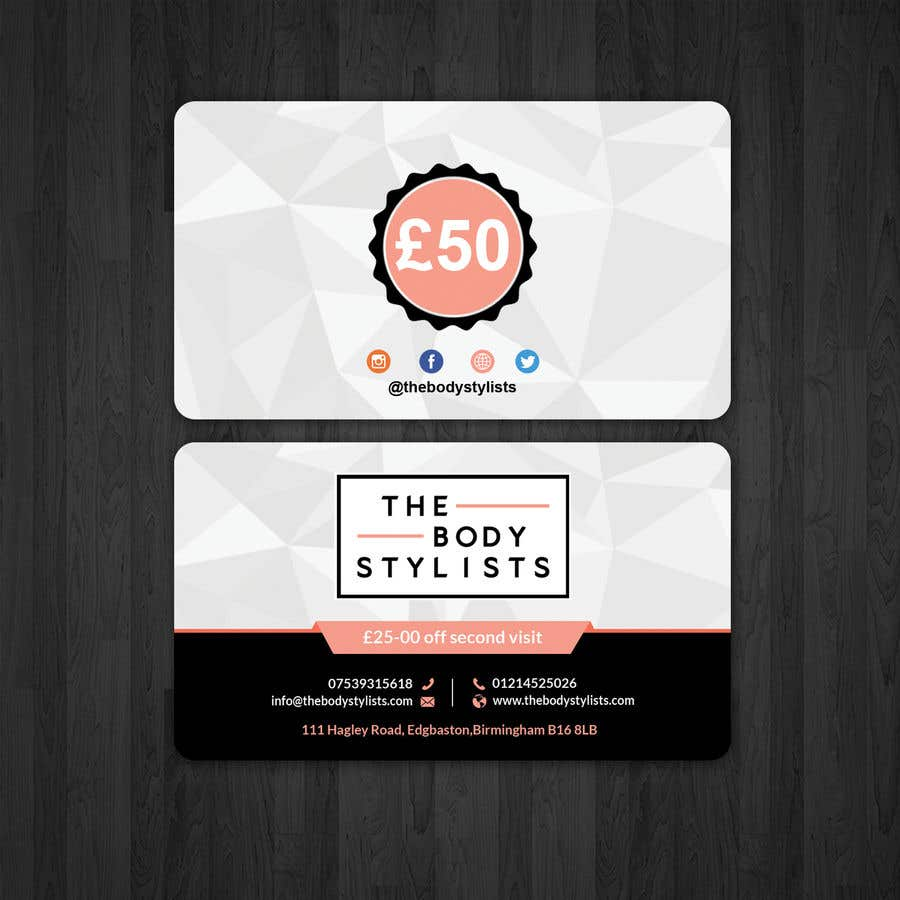 Entry #55 by papri802030 for Create a $50 off business card for ...