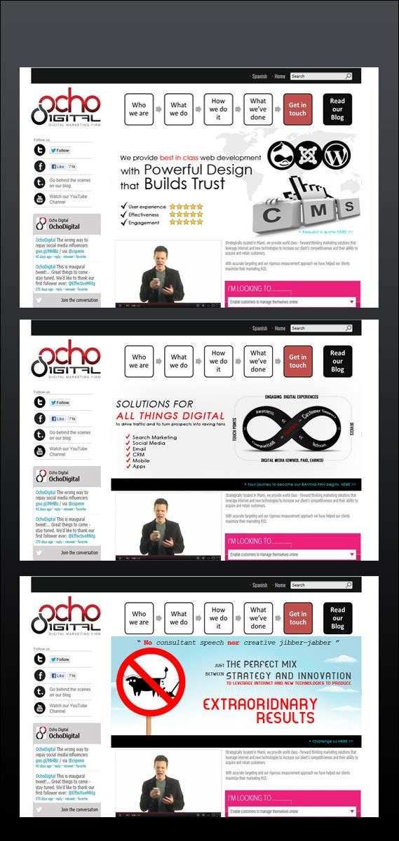Contest Entry #8 for Banner Ad Design for Ocho Digital Inc.