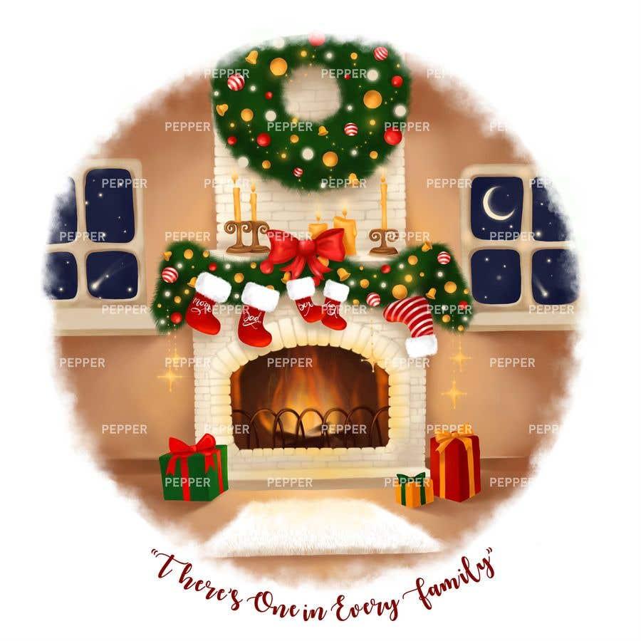 Entry #16 by pepperdnepr for Christmas Fireplace Scene