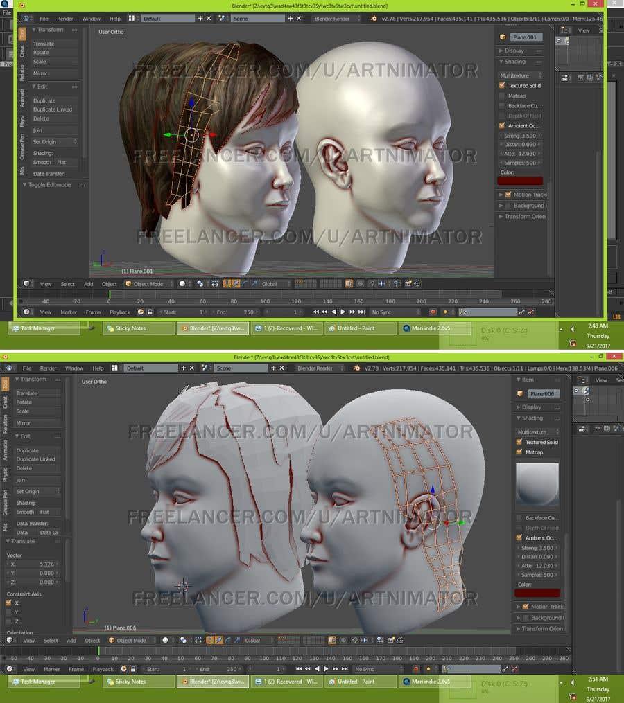 Kilpailutyö #14 kilpailussa Need 3D head mesh from reference images