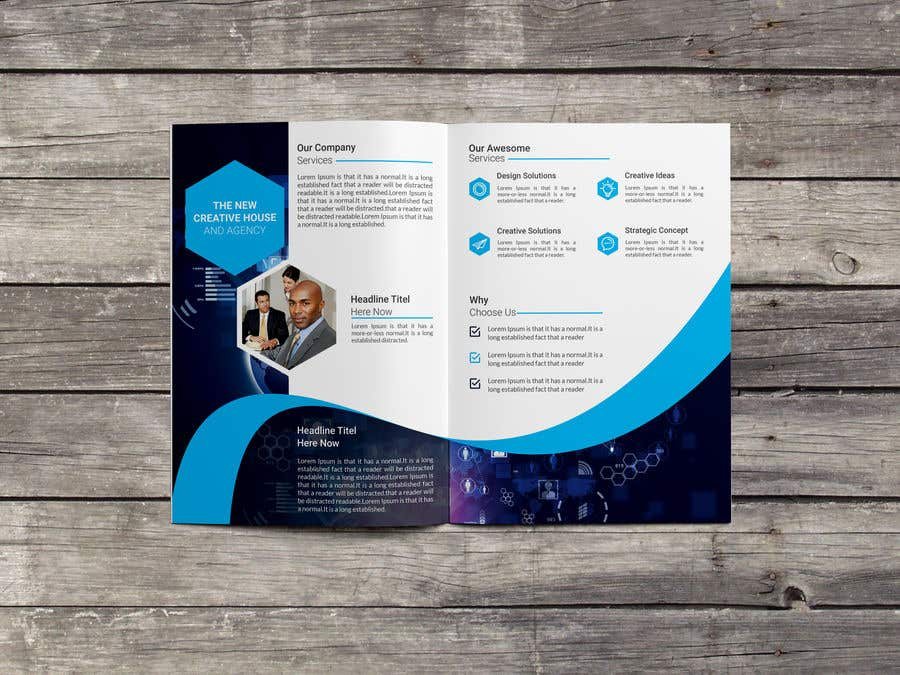 entry 12 by subhesaadik for create brochure for company profile