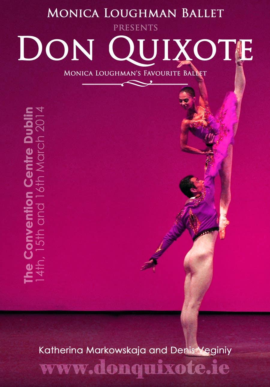 Penyertaan Peraduan #114 untuk Graphic Design for Classical ballet event called Don Quixote