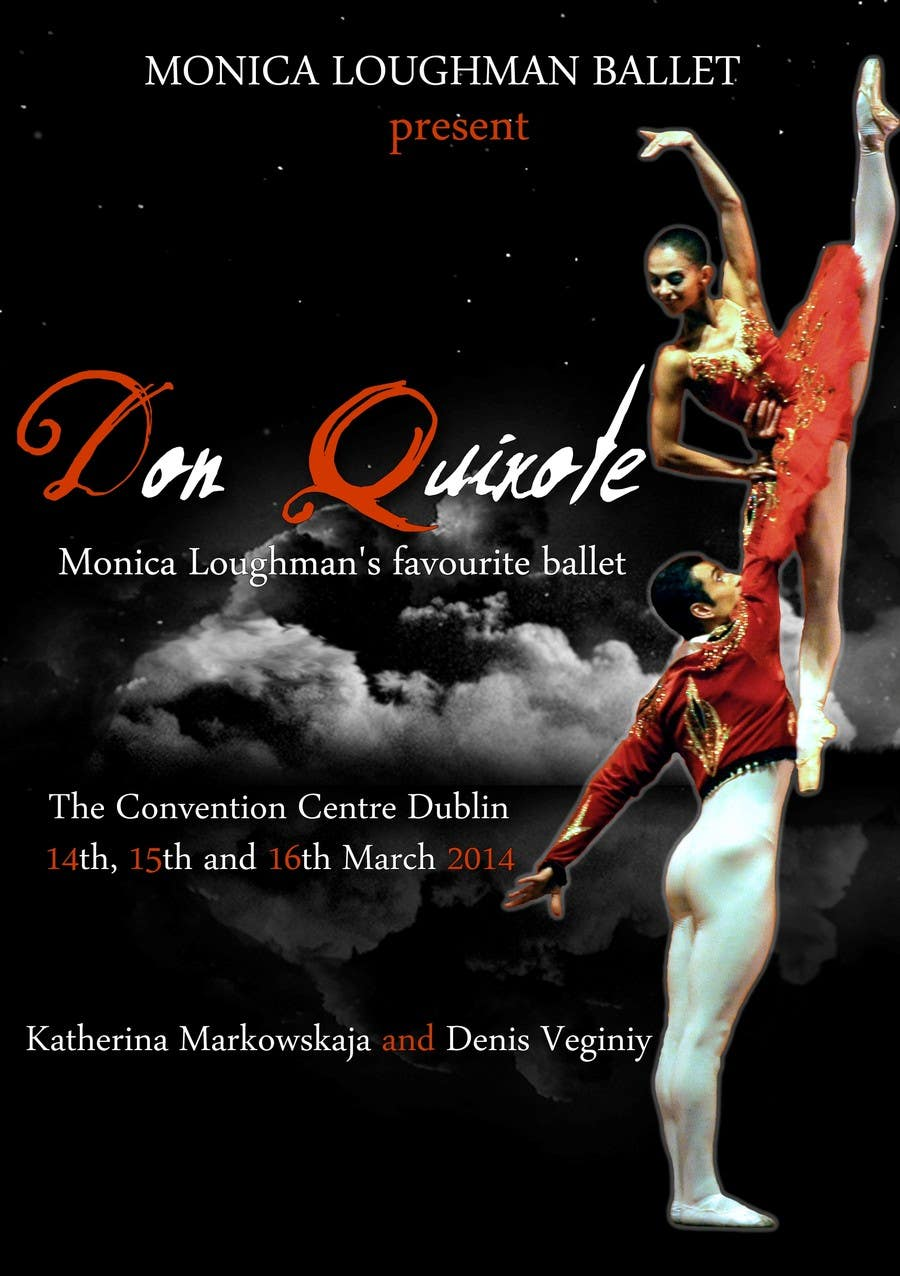 Graphic Design for Classical ballet event called Don Quixote