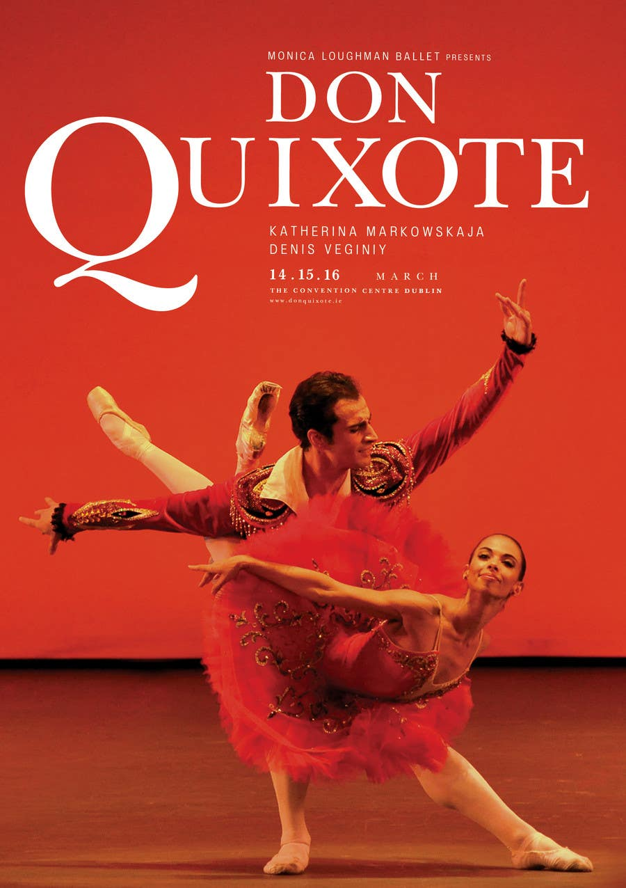 #200 for Graphic Design for Classical ballet event called Don Quixote by skurt