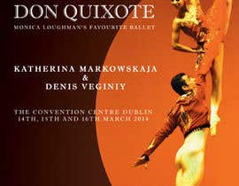 nº 29 pour Graphic Design for Classical ballet event called Don Quixote par BuDesign