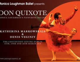 nº 131 pour Graphic Design for Classical ballet event called Don Quixote par BuDesign