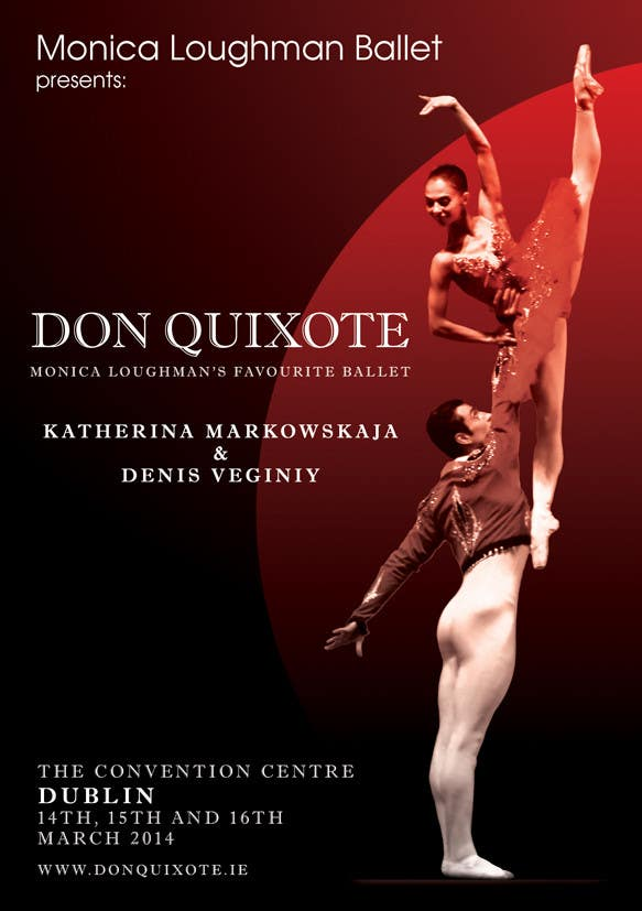 Contest Entry #85 for Graphic Design for Classical ballet event called Don Quixote