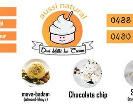 """#8 for Designs of """"DESI KOTHI ICE CREAM"""" Logo, pamphlet, visiting card and banner by zakariacheloufi"""