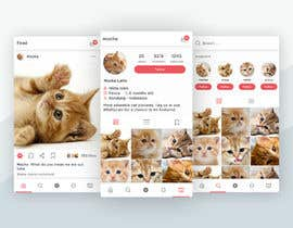 Nro 14 kilpailuun Design a mockup for an app like Instagram käyttäjältä mohamadalvir