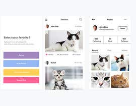 #15 for Design a mockup for an app like Instagram af azzahrialp
